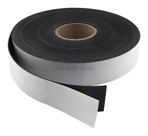 Master Magnetics Flexible Magnet Strip With Adhesive Back 1 16 Zg80a abx
