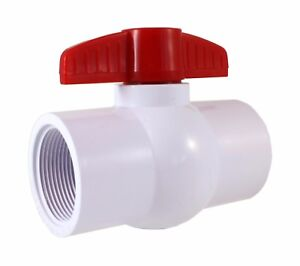 Pvc Compact Ball Valve 1 1 2 Threaded Sanipro