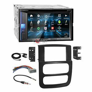 Jvc Dvd Spotify Sirius Bt Stereo Dash Kit Harness For 2002 05 Dodge Ram Truck