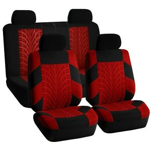Universal Seat Covers For Auto Car Suv Van Red Black Full Interior Set