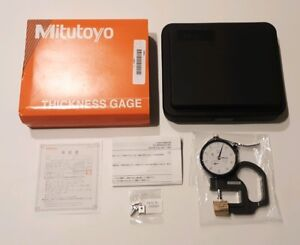Mitutoyo No 7300s Dial Indicator Thickness Gage 0 5 Micrometer Caliper New