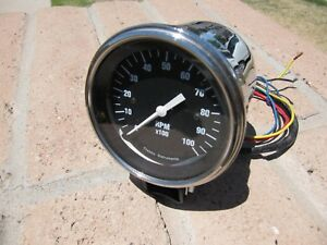 Classic Instruments 3 3 8 Tachometer With Chrome Cup