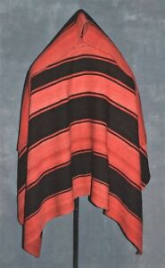 Elegant Early 1900s Aymara Indian Wearing Blanket Large Beautiful Patina Tm9976