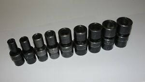 Matco 1 2 Drive Sae Swivel Universal Impact Socket Set 9 Pc 7 16 15 16