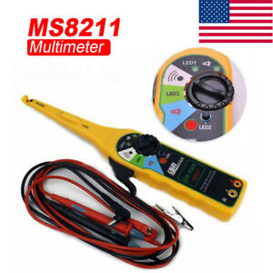 Electrical Auto Circuit Tester Multimeter Lamp Prob Ms8211 Power Diagnostic Tool