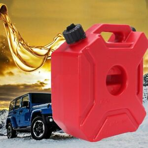 5l Gas Can With Lock Oil Pack Fuel Cans Spare Plastic Motorcycle Gasoline Vi