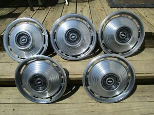 1966 Chevy Chevelle Hubcaps Set Of 5