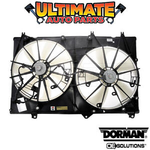 Radiator Cooling Fan 3 5l V6 For 08 10 Toyota Highlander non tow Package