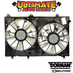 Radiator Cooling Fan 3 5l W Controller For 08 10 Highlander With Tow Package