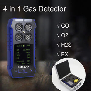4 In 1 Gas Leak Detector Co O2 H2s Ex Oxygen Gas Monitor Time Temperature Tester