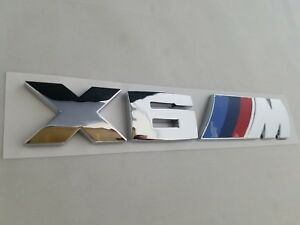 Chrome X6m Fit Bmw M Package Rear Trunk Nameplate Badge Emblem Numbers Letters