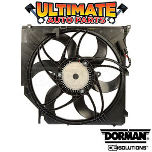 Radiator Cooling Fan 3 0l W Controller For 06 10 Bmw X3 Automatic 400 Watt