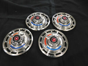 1962 63 Ford Falcon Futura Hubcaps W 1965 Spinners Installed Custom App