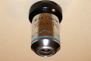 Wild Heerbrugg Switzerland 284770 Wild Fluotar 10 0 40 Ph Microscope Objective