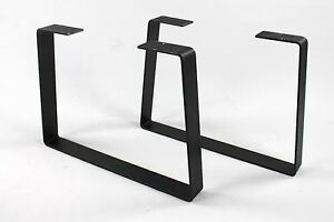 Industrial Metal Coffee Table Legs Trapezoid Heavy Duty Powdercoated Steel Diy