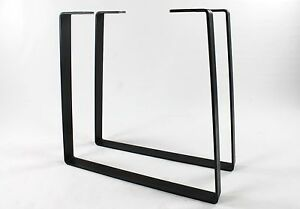 Small Medium Dining Table Legs Trapezoid Powdercoated Diy Industrial Metal