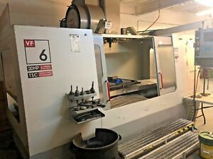2002 Haas Vf6b 40 Thru Spindle Coolant 4th Prewire Usb Smtc video Available