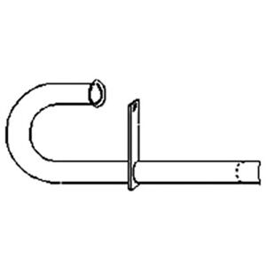 Mf2010 New Massey Ferguson Mf Tractor Exhaust Pipe To20 To30 Mf 20 1 5 Od