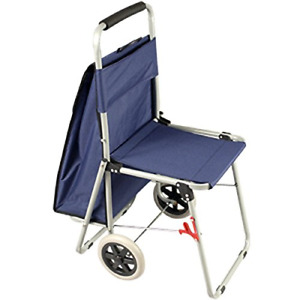 The Artcomber Folding Big Wheeled Portable Rolling Chair art Cart With Storage
