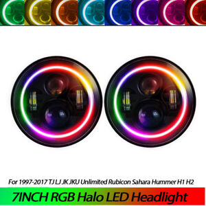 For Vw Beetle Classic Dot Rgb 7 Inch Led Headlights Update Hi Low Beam Round 3a