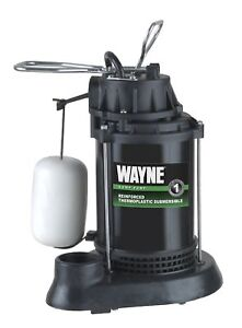 Wayne Spf50 1 2 Hp Thermoplastic Sump Pump With Integrated Vertical Float Switch