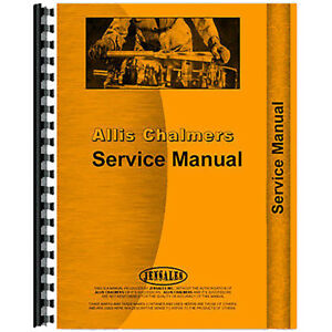 Aftermarket Service Manual For Allis Chalmers Ac Crawler Models Hd9