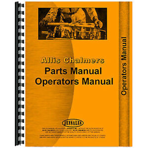 Operators Parts Manual For Allis Chalmers Lawn Garden Tractor Models C
