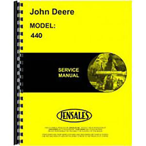New Service Manual For John Deere Skidder Model 440