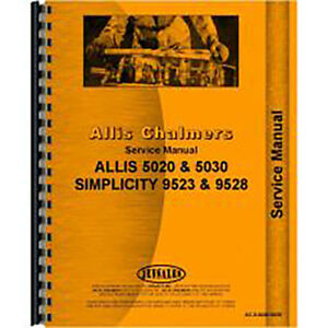 Service Manual For Allis Chalmers 5020 Tractor diesel