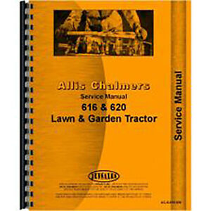 Service Manual For Allis Chalmers 616 Lawn Garden Tractor