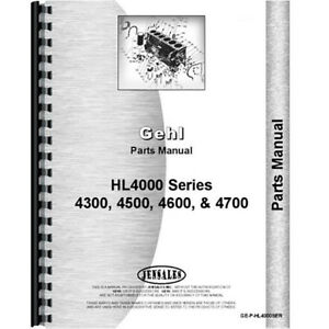 Parts Manual For Gehl Hl4300 Skid Steer Loader
