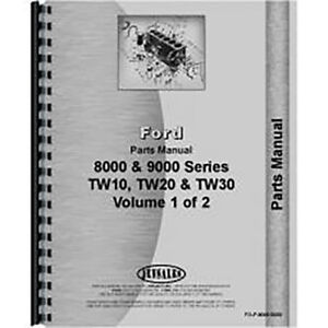 New Ford Tw 10 Tractor Parts Manual