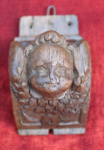 French Carved Wood Angel 17th