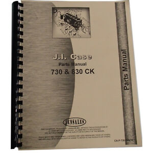 New Case 843 Tractor Parts Manual