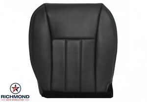 01 Jeep Cherokee Driver Side Bottom Replacement Leather Seat Cover Dk Gray Black