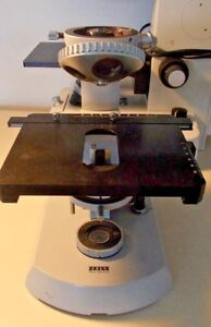 Carl Zeiss Vintage Antique West German Pol Microscope Body Stage Turret