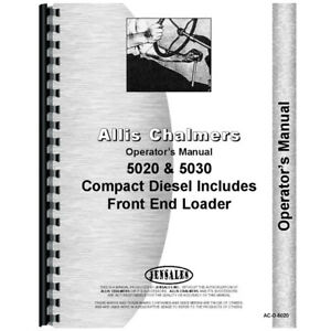 Operators Manual For Allis Chalmers Tractor Models 5020 5030 9528 9523 430