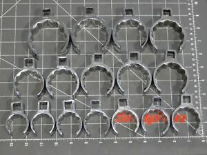 Snap On 1 2 Dr Deep Crowfoot Wrench 16pc Set 1 1 8 2 1 4 12pt Crowsfoot Chrome