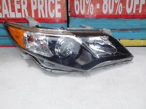 2012 2013 2014 Toyota Camry Se Right Side Halogen Headlight Aftermarket