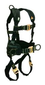 Falltech Arc Flash Electrician Belted Full Body Safety Harness 3 D ring Small