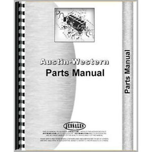 Parts Manual For Austin Western Pacer 301 Grader Industrial construction