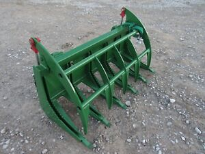 John Deere Tractor Loader Attachment 60 Root Rake Clam Grapple Ship 199