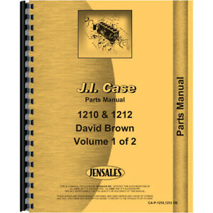 Case 1210 Tractor Parts Manual david Brown Includes 2 Volumes