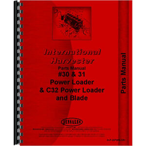 New International Harvester 30 Tractor Parts Manual