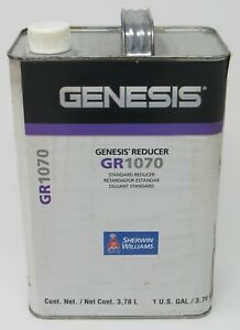 New Sherwin williams Automotive Genesis Gr1070 Standard Reducer 1 Gallon Solvent