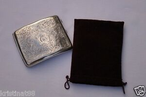 Antique English Hallmarked Sterling Silver Cigarette Case 127 Grams 321