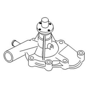 3436674m91 Water Pump With 3 Cyl Toyosha Eng For Massey Ferguson 1040 1045