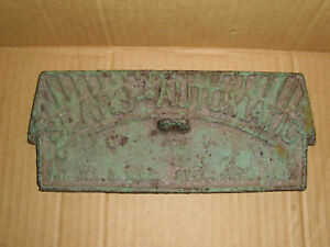 Vintage Cast Iron Sears Automatic Wood Stove Door Wall Decor Display Metal