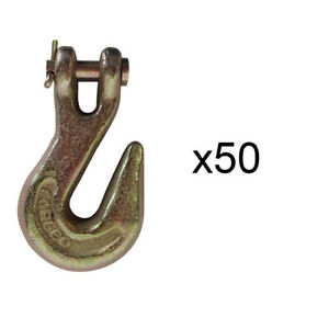 50 5 16 Clevis Grab Hook G43 Flatbed Truck Trailer Tow Chain Tie Down Hooks