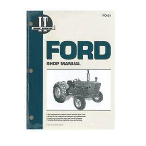 Ford 2000 3000 4000 3 Cyl 1965 1975 Tractor I t Shop Manual Fo31